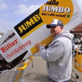 Wilde actie bij distributiecentrum Jumbo Raalte
