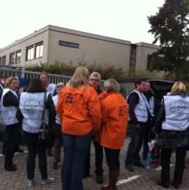 Dc-personeel Aldi Best voert actie tegen werkdruk