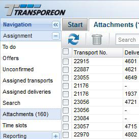 Transporeon Attachment Service