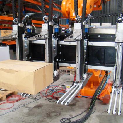 Robot met mixed palletizer