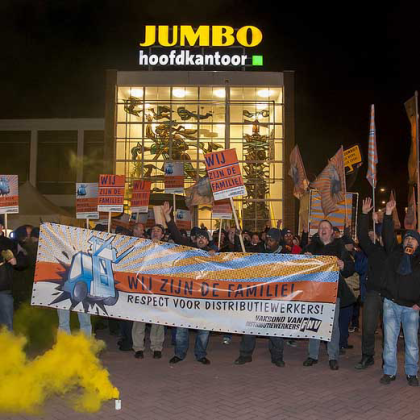 Distributiewerkers Jumbo zijn stiefkinderen