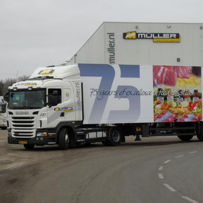 Müller Fresh Food Logistics viert 75 jarig jubileum