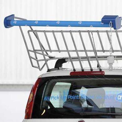 Albert Heijn: de auto als winkelwagen
