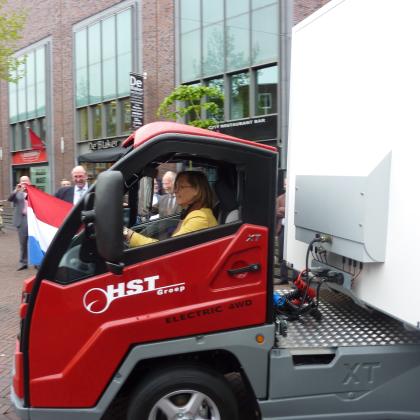 Cargohopper maakt eerste meters in Enschede