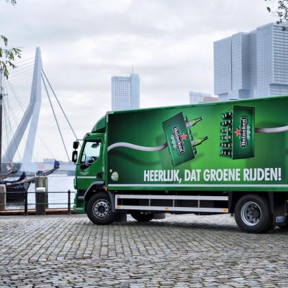 Heineken neemt grootste e-truck in gebruik