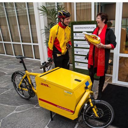 Ook Almere stimuleert pakketbezorging per fiets