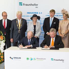 Koning steunt logistieke samenwerking Duitsland