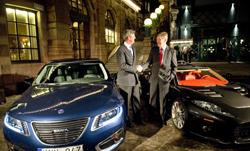 Spyker gefeliciteerd met Saab
