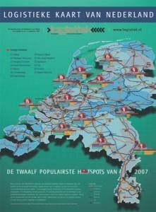 Logistieke kaart van Nederland nu ook in PDF