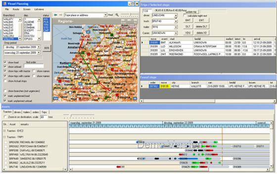 Typisch gebruik van ritplanningssoftware