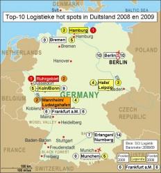 Duitse logistieke hotspots: Ruhrgebiet op nummer1