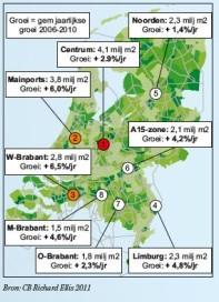 Ruim 20 miljoen vierkante meters aan Nederlandse dc's
