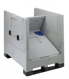 Inklapbare half-pallet container