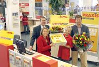 Vierhonderdste Servicepoint DHL