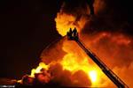Grote brand bij Geodis Vitesse
