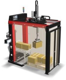 Soco plaatst pallet robot in een box