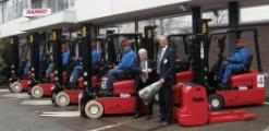 Tien nieuwe elektrische trucks voor Damco