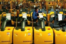 Wereldmarkt voor heftrucks halveert in eerste kwartaal