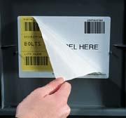 Zelfklevend etikethouder voor verpakkingen