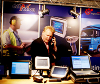 ICT & Logistiek bezoeker wil software zien