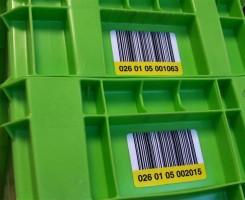 Waterbestendig etiket voor duurzame lastdragers