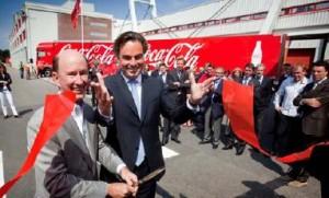 Eurlings stelt eerste LZV voor Coca-Cola in gebruik