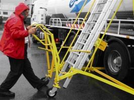 Verrijdbare trap voor tankwagens