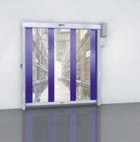 Snelloop roldeur scheidt magazijnruimtes