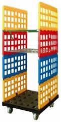 Kunststof rolcontainer is stil, licht en roestbestendig