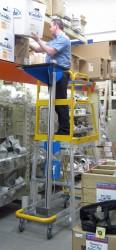 Ergonomische platformtrap met elektrisch hefplateau