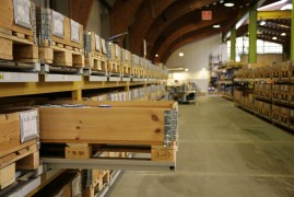 Pallet schuiflade systeem bevordert veilig werken