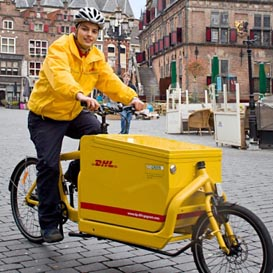 DHL voegt zeven stadscentra toe aan parcycle project