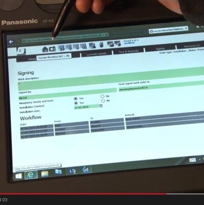 Groeneveld Groep stroomlijnt werkprocessen met tablet