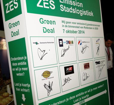 Stadsdistributie Rotterdam in 2020 volledig elektrisch