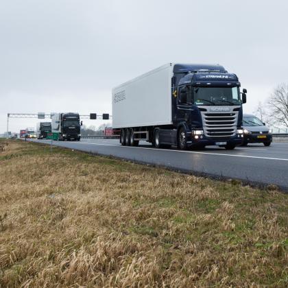 Scania heeft unicum met allereerste platooning rit