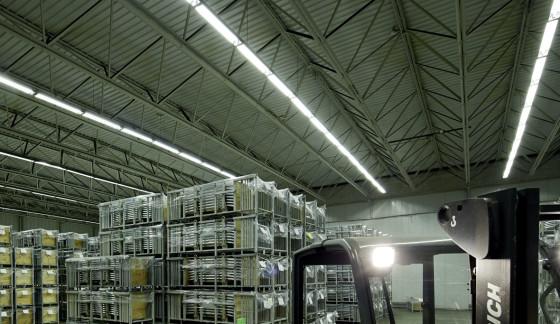 Taskin Logistics bespaart 64 procent met LED-verlichting