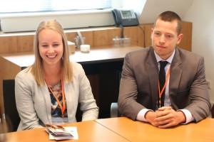 Twee van de vier kandidaten voor het Toptalent Programma: Anne van der Weerd en Wesley van Kemenade