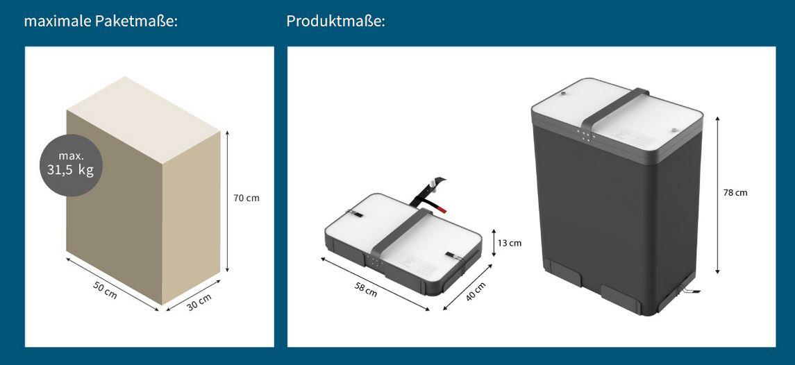 Paketbutler - technische specificatie -afmetingen