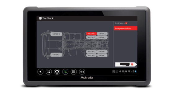 Astrata introduceert realtime bandenspanning systeem