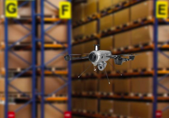 Geodis telt voorraad met drone