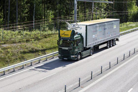 Elektrische weg Zweden mijlpaal wegtransport