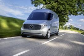 Mercedes werkt aan intelligente last mile bus met bezorgdrones