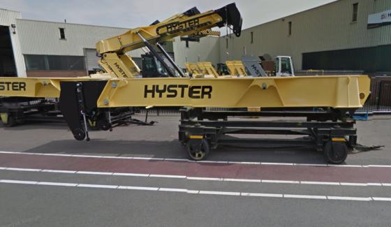 Heftruck gekanteld bij Hyster-Yale Nijmegen