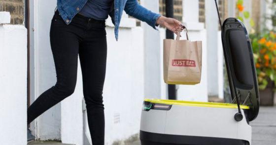 Just Eat bezorgt eten met robots