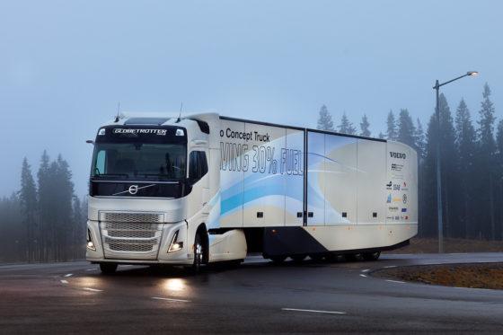 Volvo ontwikkelt hybride truck voor internationaal transport