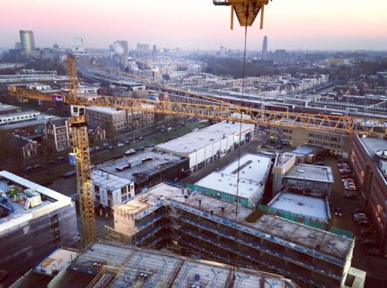 Slimme bouwlogistiek loont in Utrecht en Amsterdam