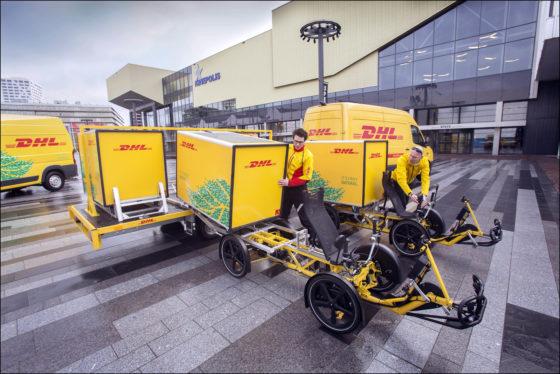 Nieuwe DHL-fiets vervoert 125 kilo vracht