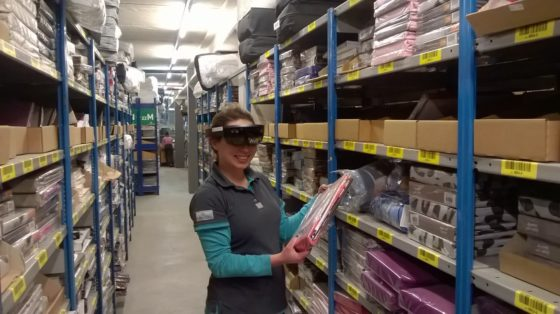 Unicum: Montapacking test Hololens in orderpickproces