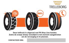 De Pit Stop Line-technologie van Trelleborg