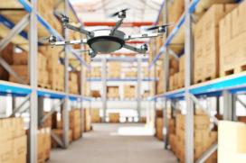 Kleine drones met RFID kunnen magazijnvoorraden inventariseren